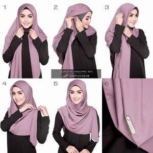 Tutorial Hijab Segi Empat Simple - http://hijabtuts.com/