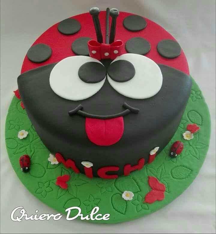 Torta de Mariquita ideal para fiesta temática de bichitos