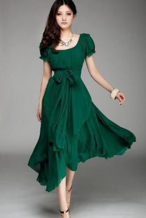 green dress / groene jurk