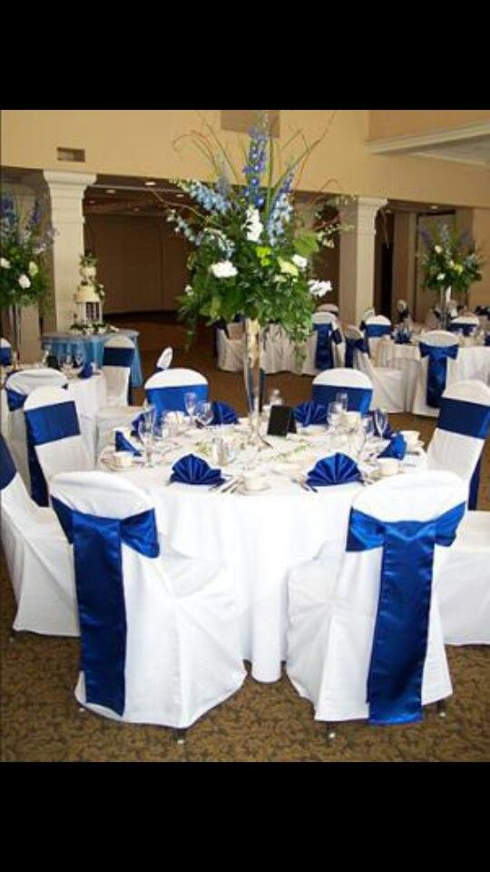 Cobalt and lime wedding