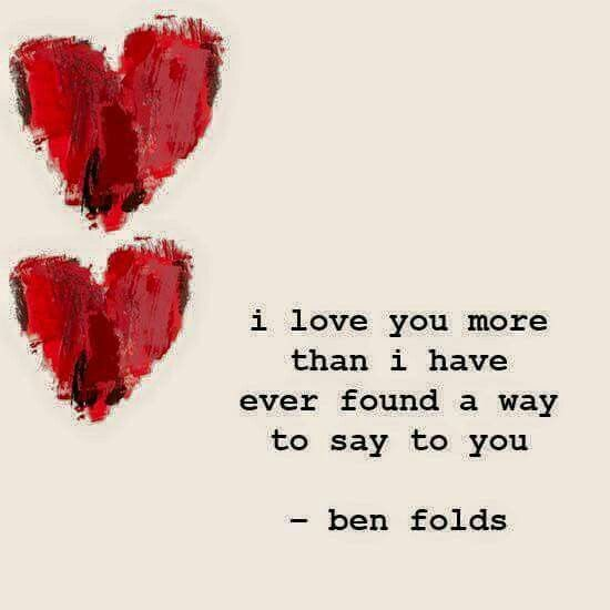 Yeah. Or truly be able to show you. *Baby.. when you miss me, just re-read my poem I emailed. You didn't know how freezing my fingers when I typed it.. Hhh.. courage, dear heart.. ❤