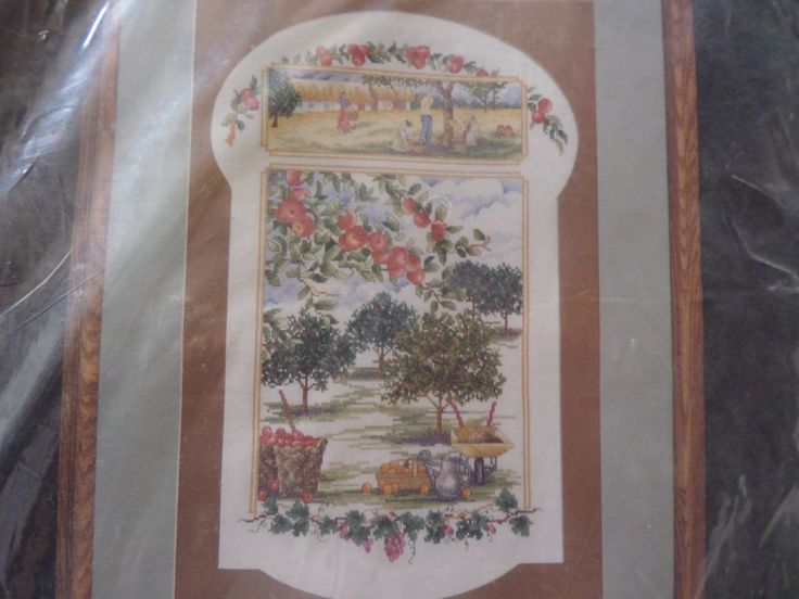 """cross stitch kit """"Apple Orchard"""" by MaddisonsRainbow on Etsy"""
