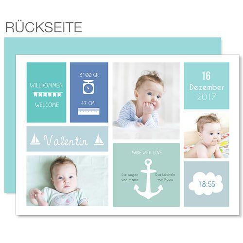 Babykarten für Jungen - Kleiner Anker 40693