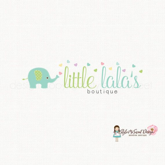 Elephant Logo Design Baby Logo Design by stylemesweetdesign