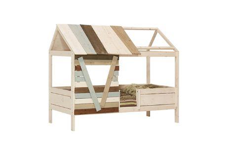 Het Lifetime Boomhut Bed is een superstoer bed voor avontuurlijke kids. Het kinderbed is prachtig afgewerkt met een transparante beits en planken in mix-kleuren.