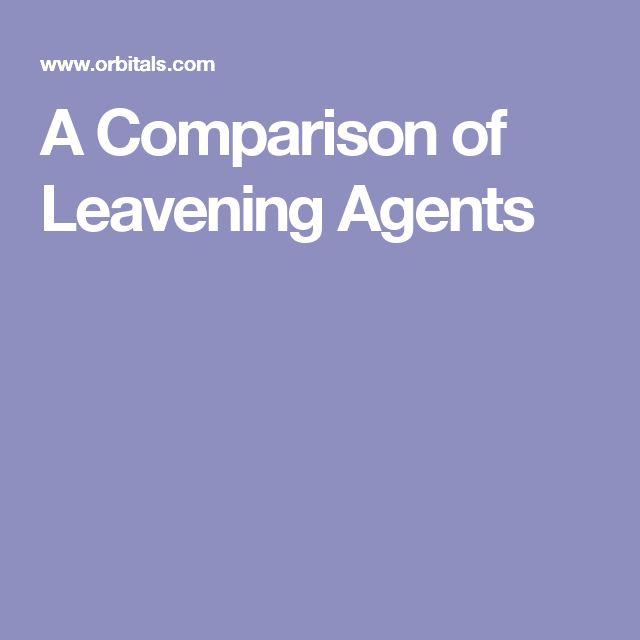 A Comparison of Leavening Agents