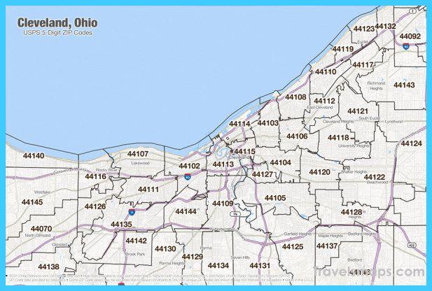 awesome Map of Cleveland Ohio