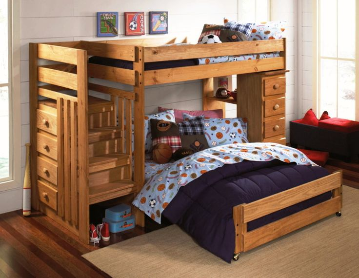 twinfull loft staircase bunkbed