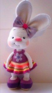 Pretty bunny - free crochet pattern