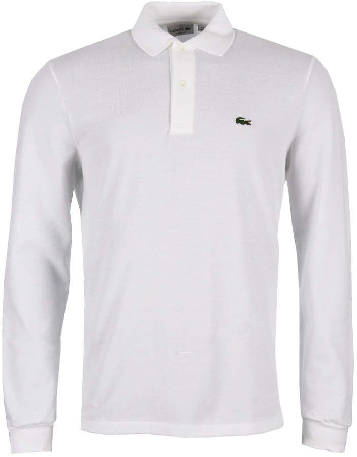 a746fca95f Lacoste Long Sleeve Polo - White | MENS LACOSTE | Long sleeve polo ...
