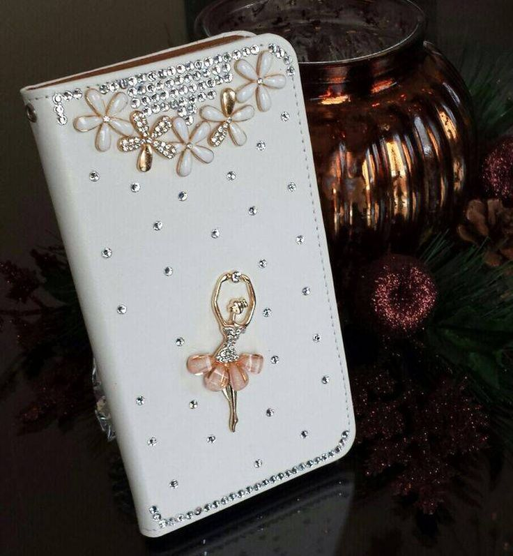 Romantische Ballerina! Luxe bling wallet case hoesje voor Apple Iphone 5C