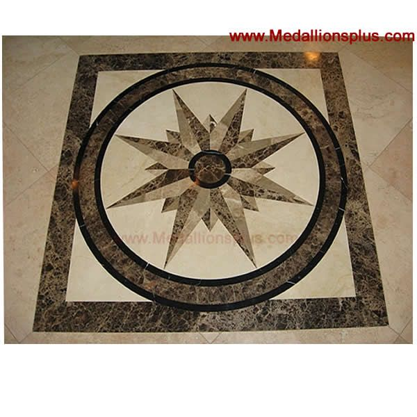 Decorative Tile Medallions 24 Best Bath Images On Pinterest  Tile Flooring Arquitetura And