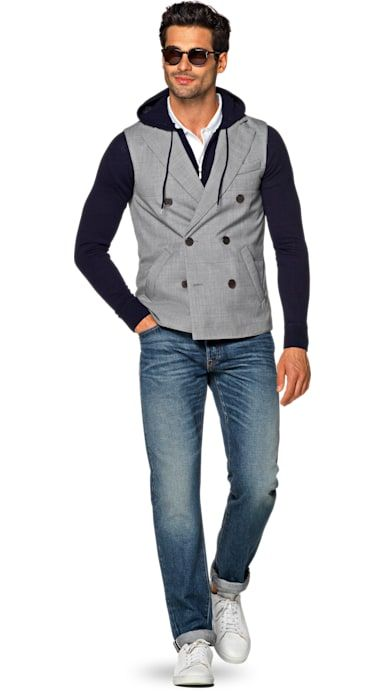 Quilted Vest Gris
