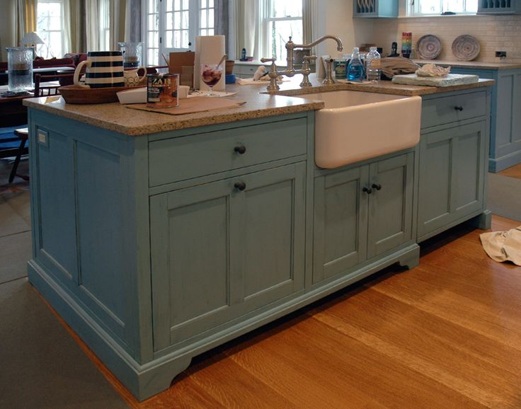 Best 25+ Painted Kitchen Island Ideas On Pinterest | Redoing Kitchen  Cabinets, Reclaimed Wood Floors And Rustic Kitchen Cabinets