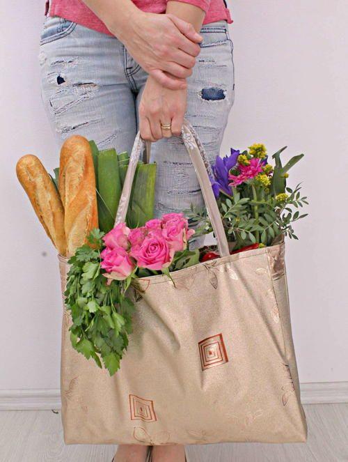 DIY Reversible Grocery Bag