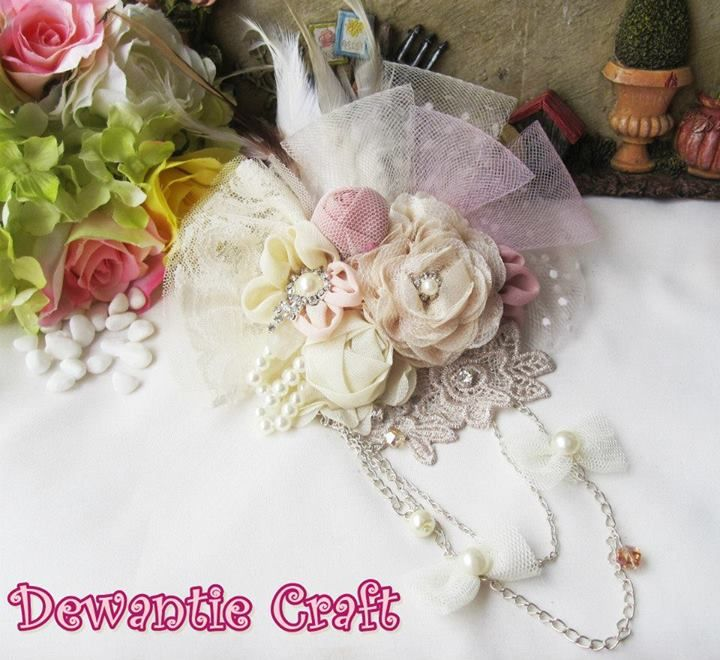 Royal Design. (Brooch & headpiece) handmade