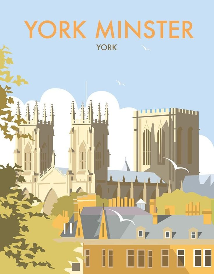 York Minster Art Print - David Thompson, contemporary illustrator.
