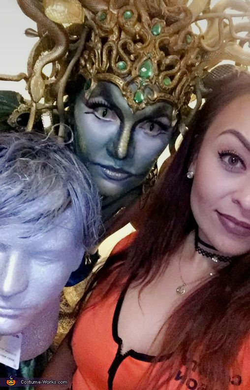 Mary: I'm wearing my costume I made my headpiece, n stone head ,..I did my own make up it was so much fun Happy birthday to me 💋. Photo 2 of...