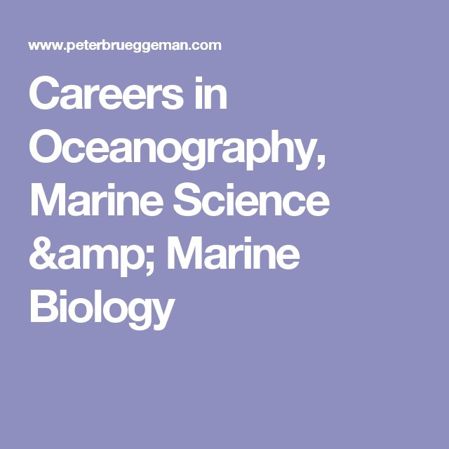 Careers in Oceanography, Marine Science & Marine Biology