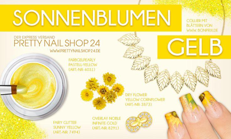 """#summer #yellow #sunflower #nailart #nails Mit der sommerlichen Farbe """"Sonnenblumen-Gelb"""" lassen sich tolle Designs zaubern. Lasst Euch inspirieren, Eure Juliane."""