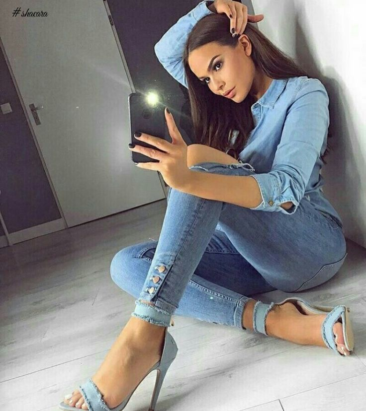 CHECK OUT THESE JEANS INSPIRED OUTFIT IDEA FOR THE WEEKEND