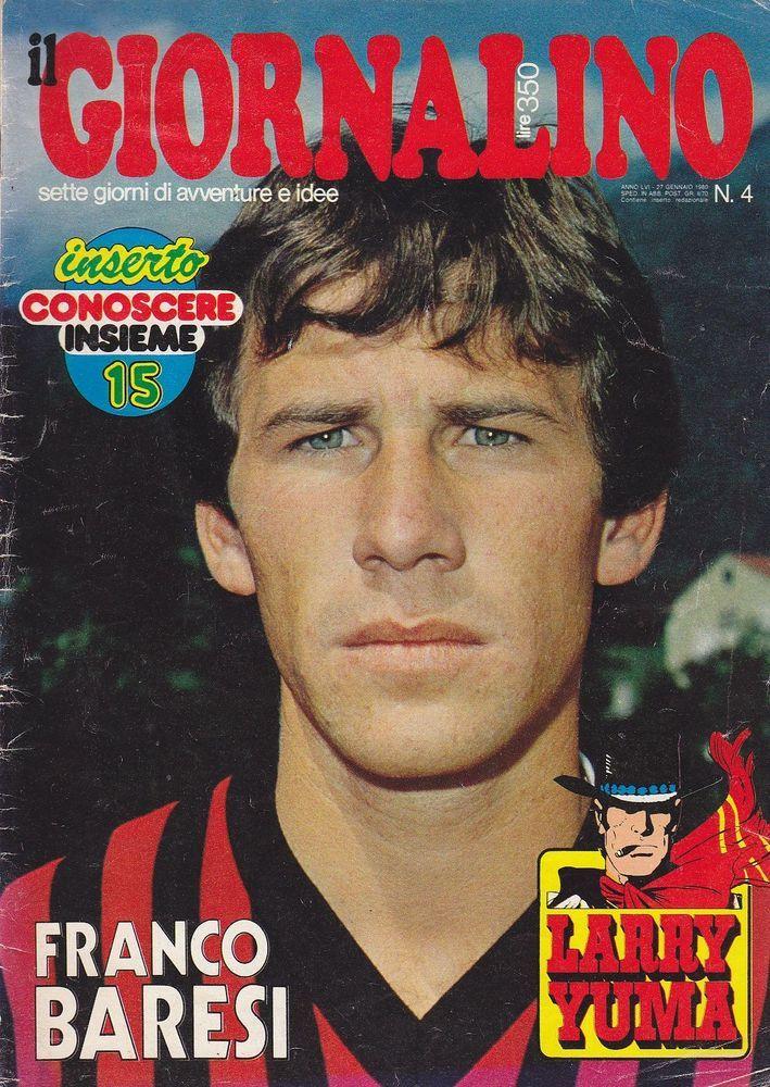 IL GIORNALINO 27 gennaio 1980 FRANCO BARESI MILAN con poster manca inserto