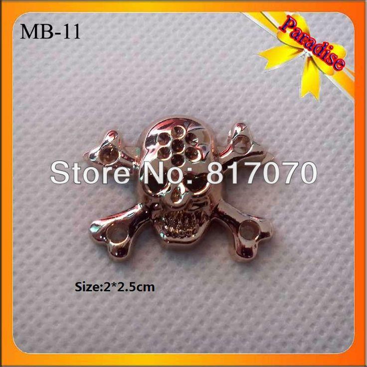 (МБ-11) продажи Завода золотой небольшой металлический череп логотип значок/контактный череп логотип для одежды/сумки украшения