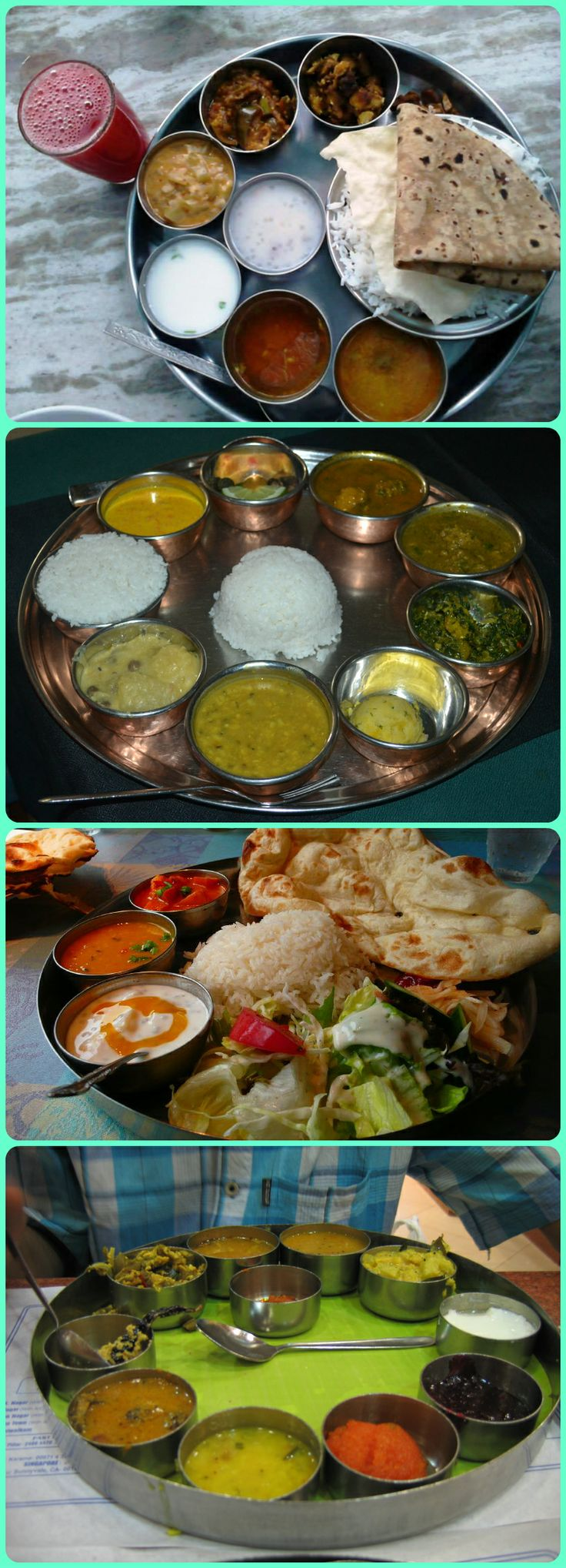 Yummy Indian Thalis  #indianfood #indianrecipes Love to cook? Upload your recipes on http://secretindianrecipe.com and be one of our super cooks