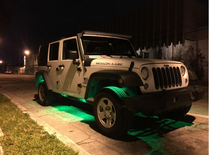 Install rock light kit on Jeep or off road 4x4, look cool at night.