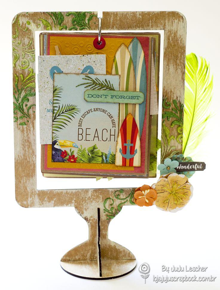 Calendário - Beach Therapy. Coleção Beach Therapy da Bo-Bunny Projeto: JuJu Scrapbook By: JuJu Lescher Faça já seu cadastro e aprenda tudo sobre Scrapbook: http://www.stampclubbrasil.com.br/