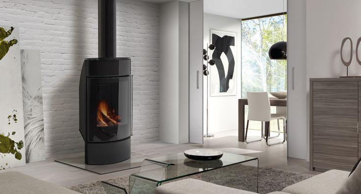 Hergom - Estufas, hogares y chimeneas de hierro fundido para leña y gas. Europa América - Santorini FS