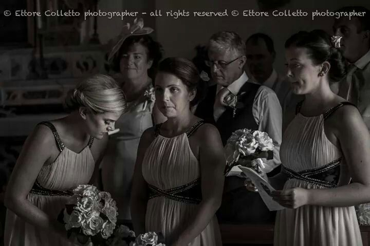 Ceremony - bridesmaids Irish wedding in Sicily www.ettorecolletto.com