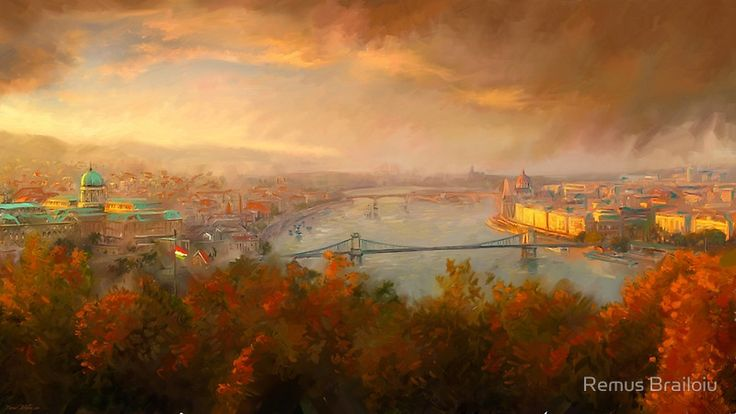 """View of Budapest"" Photographic Prints by Remus Brailoiu 