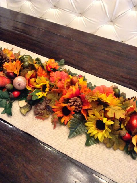 Fall Harvest Table Runner Or Décor Tutorial Very Similar To The Park Hill  Collection Bountiful Table Runner From Neiman Marcus, But Much Less  Expensive.