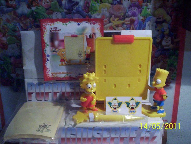 Kinder Maxi Un 51 The Simpsons Cartina | eBay