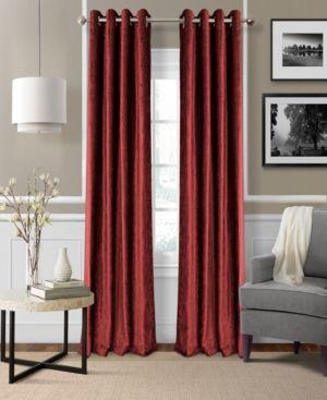 """Elrene Victoria Velvet 52"""" x 95"""" Room Darkening Thermal Panel - Red"""
