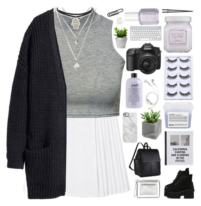 """""""one whos always crazy never calls me baby"""" by nothing-like-outerspace ❤ liked on Polyvore featuring Monki, Club L, John Lewis, Patagonia, Davines, philosophy, Essie, Laura Mercier, Uncommon and PhunkeeTree"""