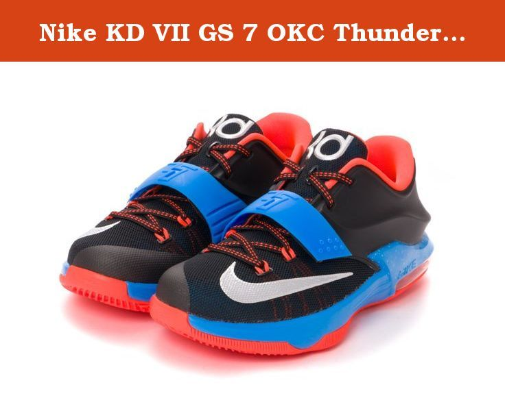 Nike KD VII GS 7 OKC Thunder Away Black Blue Air Max Zoom Youth Basketball Shoes 669942-002 (US 6.5Y). Nike KD VII GS 7 OKC Thunder Away Black Blue Air Max Zoom Youth Basketball Shoes 669942-002.