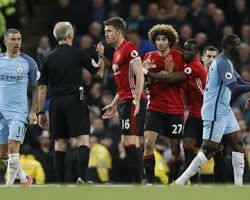 Man City 0-0 Man United Match Report (Fellaini sees red as Manchester derby ends goalless) #cityvutd  #MCIMUN