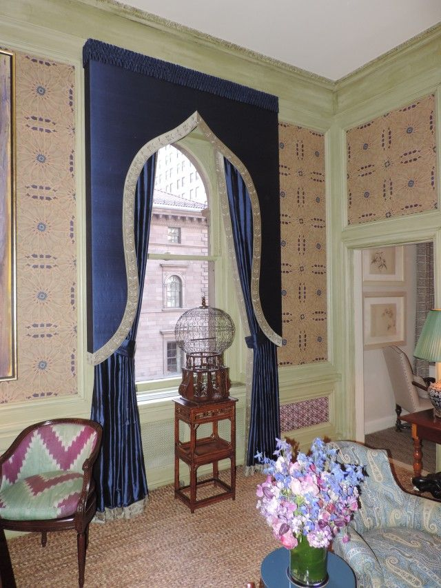 Lambrequin Interior Design #3: Kips Bay 2014 Showhouse Features A Beautifully Fabricate Lambrequin Created  By Workroom Anthony Lawrence-Belfore