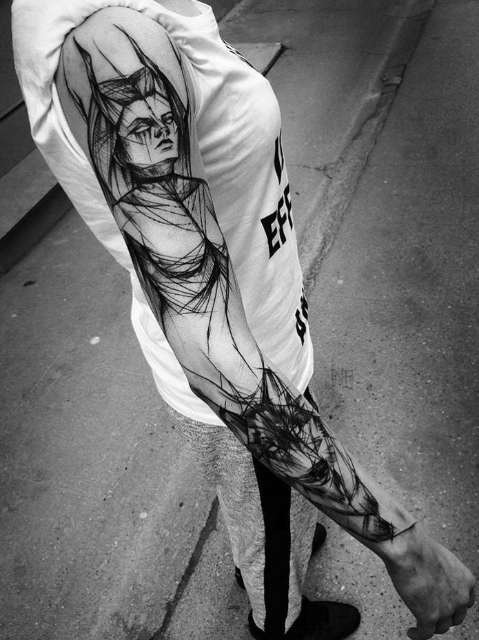 Sketch Style Tattoo Sleeve: 17 Best Images About Tattoos On Pinterest