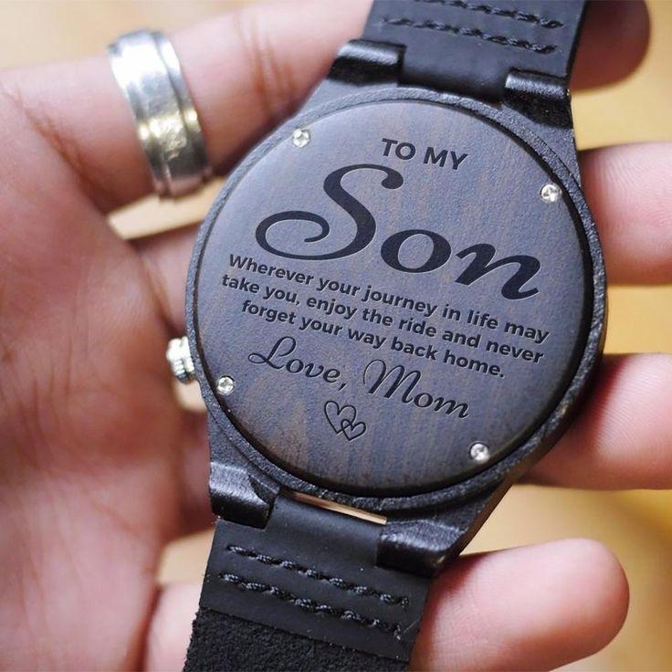 Achten Sie auf Sohn, Geschenk für Sohn von Mom mit eingraviertem emotionalem Zitat