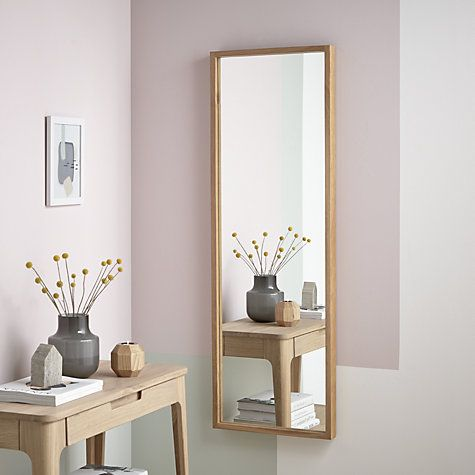 Buy John Lewis Scandi Oak Mirror, 135 x 45cm, Natural Online at johnlewis.com