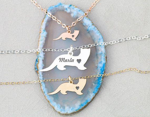 SALE  Ferret Gift Pet Ferret Necklace  Sterling Silver