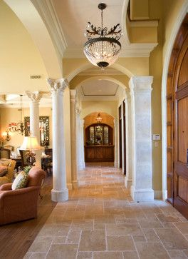 """Sater Group's """"Cordillera"""" Custom Home Plan - mediterranean - entry - miami - by Sater Design Collection, Inc."""