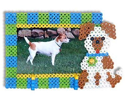 This Perler Puppy Frame is the perfect way to show off a photo of your favorite pet!