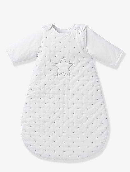Gigoteuse manches amovibles BIO COLLECTION thème Pluie d'étoiles Blanc / etoiles - vertbaudet enfant