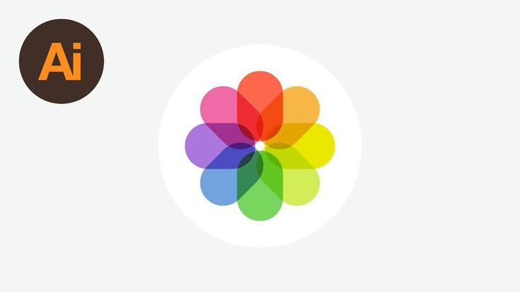 iOS Photos Icon | Illustrator Tutorial - http://tutorials411.com/2016/11/21/ios-photos-icon-illustrator-tutorial/