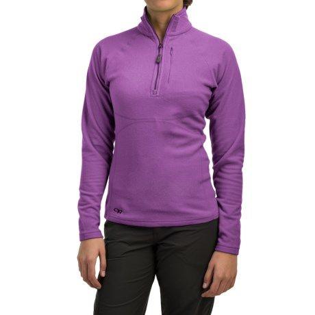 Outdoor Research Soleil Fleece Pullover Shirt - Zip Neck, Long Sleeve (For Women) in Apple