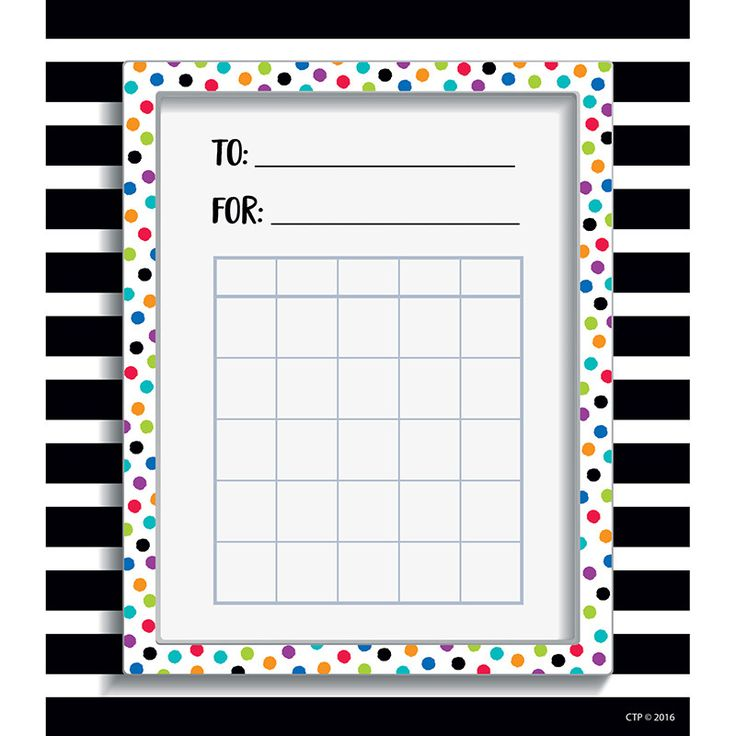 SPOT/STRIPE STUDENT INCENTIVE CHART